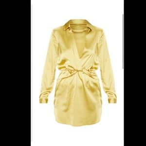 Silk gold dress